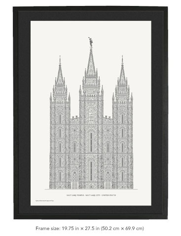 Framed letterpress print