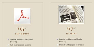 Screen showing Mobile Web Design holiday discount pricing