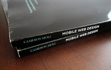 Mobile Web Design book spine