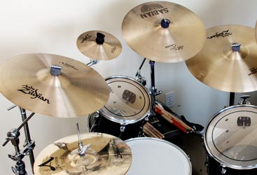 Original photo of my drum kit
