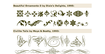 Type-Art Ornaments Collection