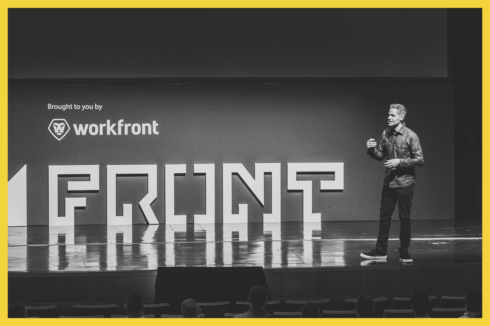 Cameron Moll speaking at Front 2016 in Salt Lake City